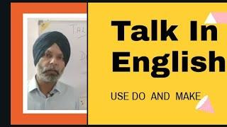 USE OF DO and MAKE || ENGLISH FOR THE BEGINNERS||