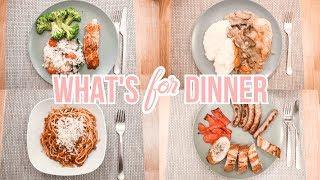 WHAT'S FOR DINNER BUDGET FRIENDLY | EASY DINNER IDEAS FOR FAMILY OF 3 | Meal Planning on a Budget