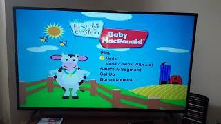 Baby Einstein  - Baby MacDonald 2009 DVD Menu