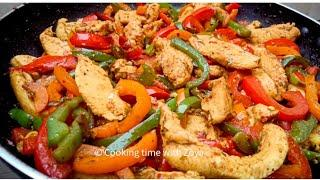 Chicken Fajita Recipe with English subtitles by Cooking time with zoya #shorts