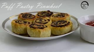 Puff Pastry Pinwheels| Indian style| Party Appetizer Recipe