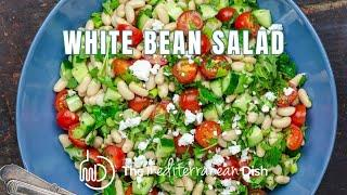 Easy White Bean Salad by The Mediterranean Dish