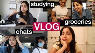 Study Sessions, Thai Food, Groceries & Chats | VLOG
