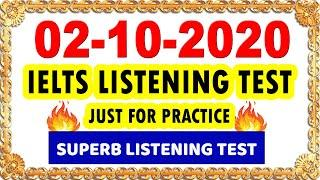 IELTS LISTENING PRACTICE TEST WITH ANSWERS 2020 | 02-10-2020