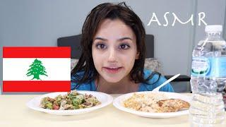 ASMR Grilled Lebanese Food Mukbang Eating Sounds