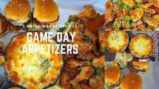 3 Easy Game Day Appetizers - Quick and Easy Football Snack | Let's Eat Cuisine