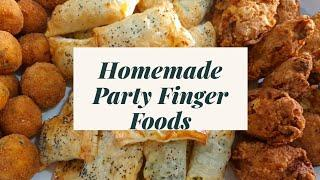 COOKING WITH MAMA E | HOMEMADE PARTY FINGER FOODS