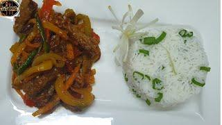 Chilli beef strips | beef vegetable stir fry recipe | by Food lounge with Humaira