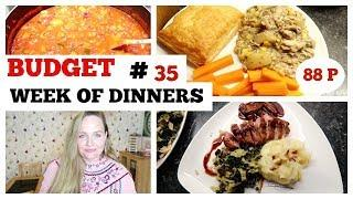 WHAT'S FOR DINNER #35 / EASY, BUDGET FAMILY MEAL IDEAS / Leftovers, frugal what we eat in a week