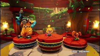 Crash Team Racing Nitro-Fueled Baby Coco Winning Podium