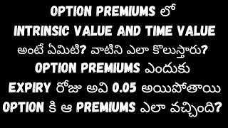 options Intrinsic value and time value explained in Telugu | option chain analysis in telugu