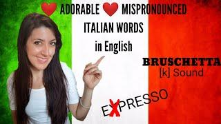 5 Adorable Mispronounced ITALIAN words about food in English | With my HILARIOUS EXPLANATION!