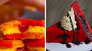 How to Bake Macarons and Red Velvet Desserts! | Easy Dessert Recipes by So Yummy
