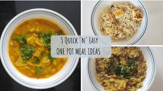MUST-TRY 3 Easy One Pot Recipes (Part I) | Quick Healthy Recipes | One-Pot Vegetarian Meal Ideas