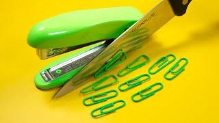 Stop Motion Cooking - Making Hotdog From School Supplies ASMR 4K