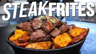 THE BEST STEAK FRITES (W/ WAGYU BEEF!) | SAM THE COOKING GUY 4K