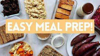 EASY PLANT BASED MEAL PREP for BEGINNERS! Tasty Recipes + FREE PDF!