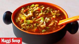 Chinese Style Maggi Noodles Soup Recipe, Soupy Masala Maggi Noodles Street Style, street food recipe