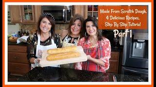 Made From Scratch Dough, 4 Delicious Recipes | Step By Step Tutorial | Part 1 | The2Orchids