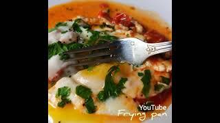 Super simple and delicious breakfast with tomatoes and cheese.