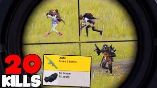 AKM + 6x SCOPE = EPIC | PUBG MOBILE