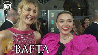 Laura Dern & Florence Pugh (Little Women, Black Widow) Interview - BAFTAs 2020