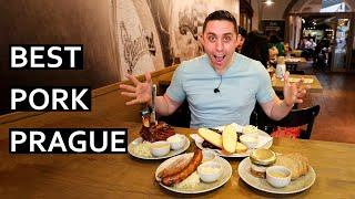 Best Prague Pork Dishes - Best Koleno (Pork Knee Knuckle) in Prague, Czechia!