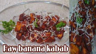 Kebab| raw banana kebab| try this veg kebab at home for a healthy snacks| everybody's favourite ❤️