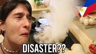 FOREIGNERS cooking FILIPINO FOOD for FIRST TIME - It was a Disaster?