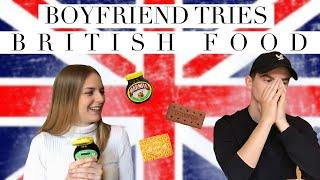 FRENCH BOYFRIEND TRIES BRITISH FOOD!!