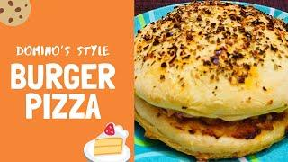 Cheese Burger Pizza || Dominos Style || perfect Burger Pizza || Epic Cooking