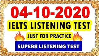 IELTS LISTENING PRACTICE TEST WITH ANSWERS 2020 | 04-10-2020