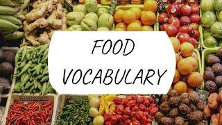 100 FOOD NAMES | FOOD VOCABULARY WITH PICTURES | ENGLISH FOOD LIST