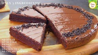 3 ingredients moist CHOCOLATE CAKE in 15 minutes | LockDown Cake Recipe by Tiffin Box | Eggless Cake
