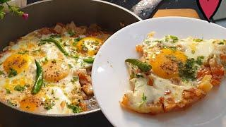 Eggs With Potatoes And Tomatoes - Easy Afghani Omelette | Easy Breakfast Recipe ♥️