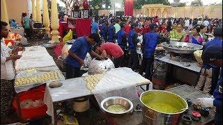 Lavish Indian Wedding: Epic Food Stalls serving Yummy Street Food & Restaurant Quality Foods, India.