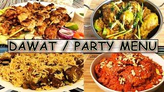 Dawat Recipes menu |dinner or lunch full recipe Ideas | Party Recipes