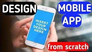 Move from Graphic Design to UI/UX | Design a Mobile App From Scratch 2020