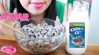 Eating ASMR Oreos Cereal MUKBANG {CRUNCHY Eating Sounds} No Talking Eating Show