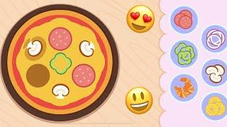 LEARNING GAME . Making PIZZA in English . Kids cooking game | Готовим пиццу на английском