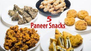 Five Types Of Paneer Snacks