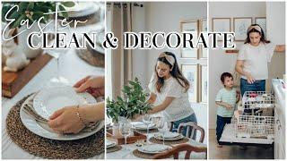 EASTER CLEAN AND DECORATE WITH ME 2020 + BUDGET EASTER BASKETS & HEALTHY MENU IDEAS! Justine Marie