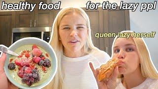 4 QUICK + EASY HEALTHY BREAKFAST IDEAS | how to eat and be healthy but lazy at the same time lol