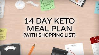 14-Day Keto Diet Meal Plan [with Shopping List]
