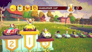 Garfield Kart Furious Racing - Jon Crushes the Competition in the Hamburger Cup (Xbox One Gameplay)