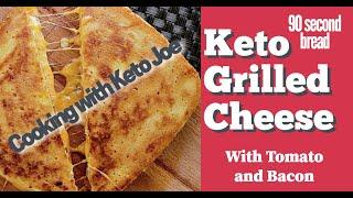 Unique Keto Grilled Cheese in less than 2 minutes | Low Carb Lunch | with Bacon and Tomato |