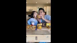 Toddler & Dad try McDonald's Secret Menu #shorts