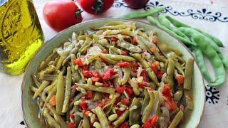 Green Beans Turkish Style With Olive Oil & Tomatoes