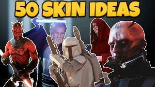 50 MOST WANTED SKINS IN STAR WARS BATTLEFRONT 2