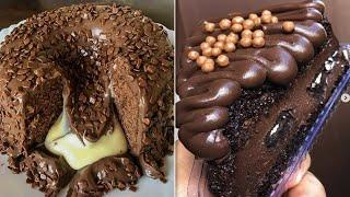 Easy Chocolate Desserts Recipes | Yummy Cake Tutorials | Delicious Chocolate Cake Decorating Ideas